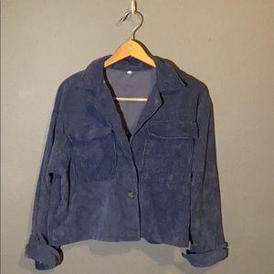 Shein Blue oversized corduroy pullover